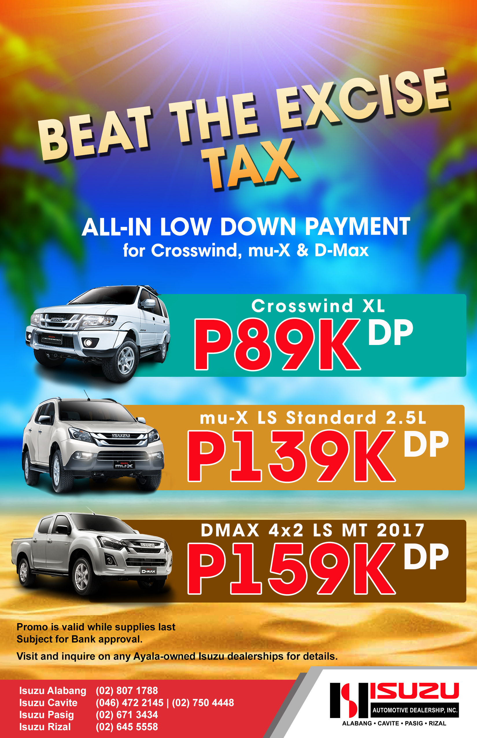 Isuzu Auto Dealer Ac Automotive Beat The Excise Tax