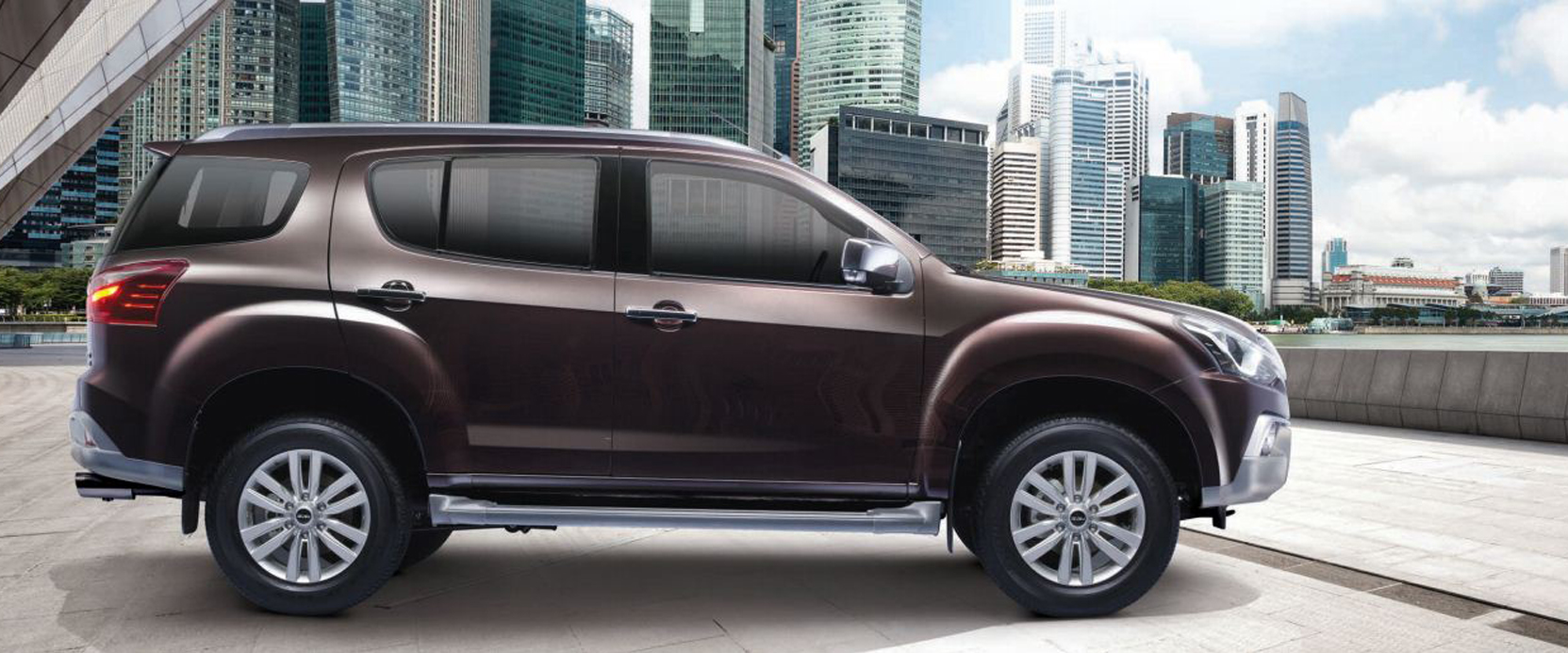 Brown Isuzu mu-x new model